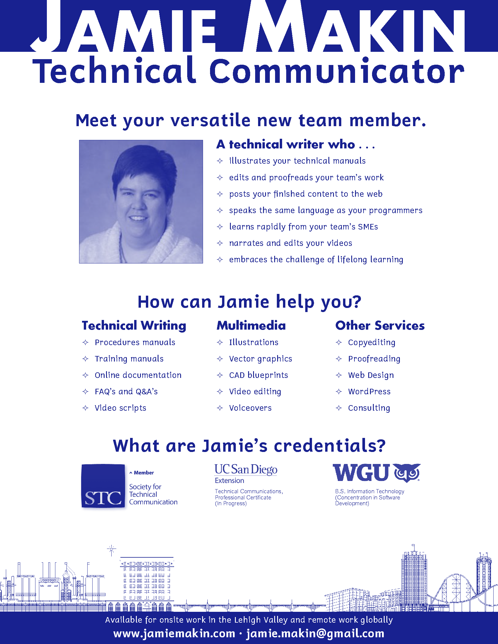 Flyer for Jamie Makin